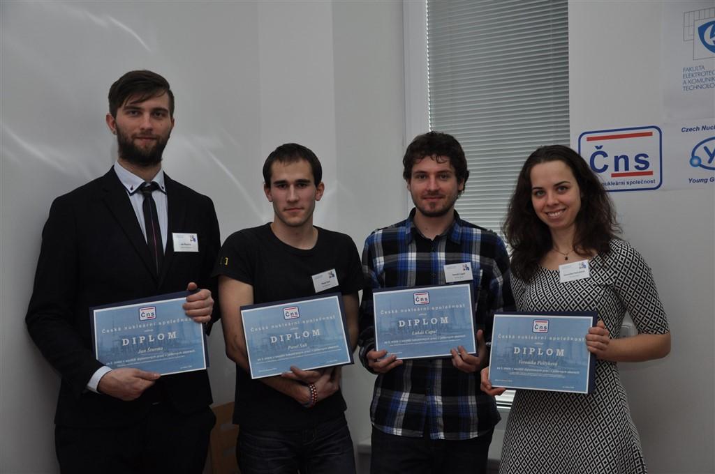 jaderná energie - Česká nukleární společnost ocenila nejlepší studentské práce z oblasti jaderné energetiky - V Česku (Foto 4) 1