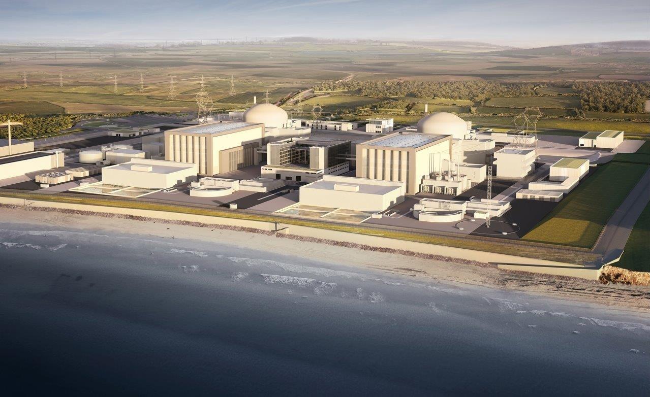 jaderná energie - Britský jaderný průmysl zpětně hodnotí letošní rok - Nové bloky ve světě (Hinkley CGI image) 2