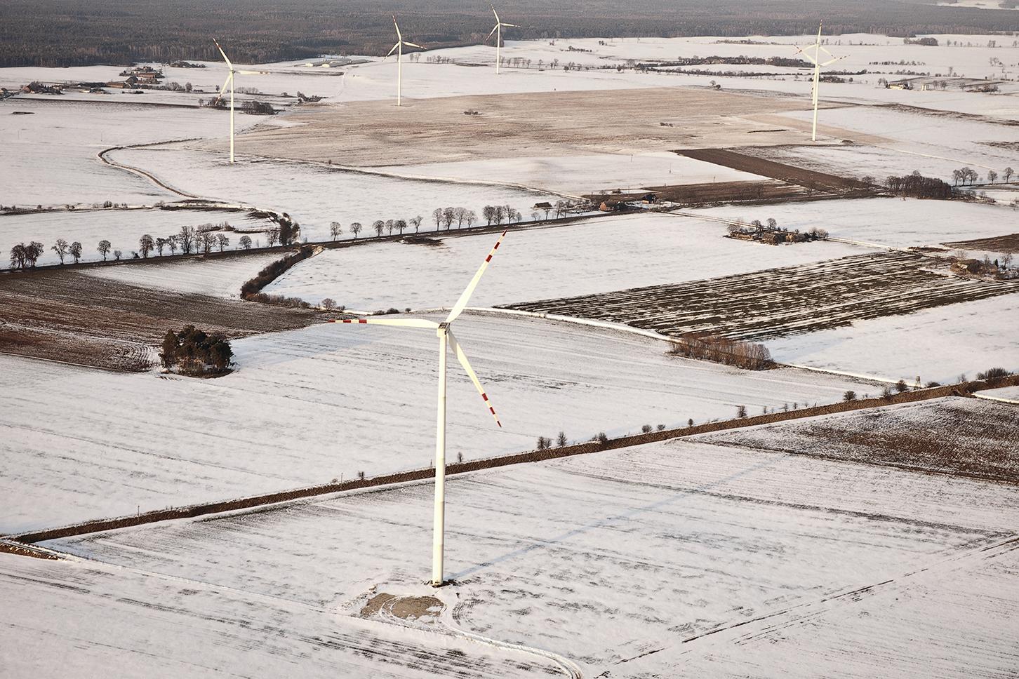Větrná energetika má v Polsku na kahánku