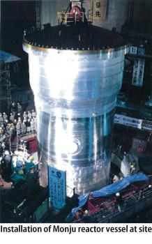 jaderná energie - Vyřazení rychlého jaderného reaktoru Monju z provozu - Ve světě (reactor fast 02www.mhi global.com) 2