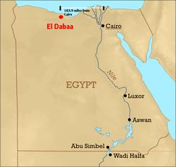 jaderná energie - Egypt zahájil veřejnou konzultaci o JE El-Dabaa - Nové bloky ve světě (250px Eldabaa location) 3