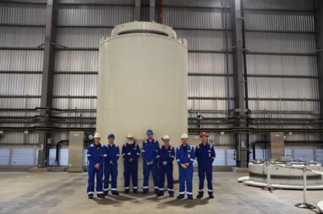 Do skladiště paliva JE Sizewell B byl umístěn první kontejner