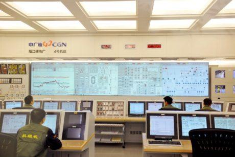 jaderná energie - Čtvrtý blok JE Jang-ťiang vstoupil do komerčního provozu - Nové bloky ve světě (Yangjiang 4 control room 460 CGN) 1