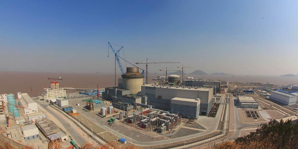 jaderná energie - Kurzy.cz: Jaderné divizi Westinghouse hrozí bankrot - Ve světě (stavba AP1000 v čínském Sanmenu únor 1024) 3