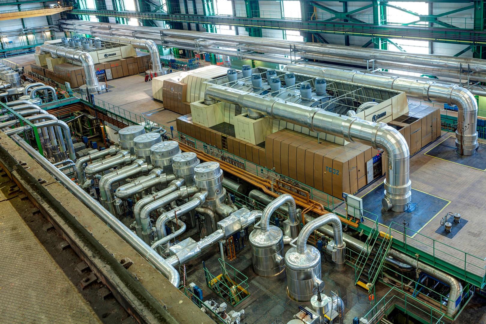 jaderná energie - HN: O Škodu Praha se zajímá indonéská společnost Nikko Securities - V Česku (turbine hall) 2
