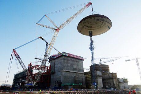 jaderná energie - Na pátém bloku JE Chung-jen-che byly dokončeny hlavní stavební práce - Nové bloky ve světě (Hongyanhe 5 dome installation 460 CNI23) 1