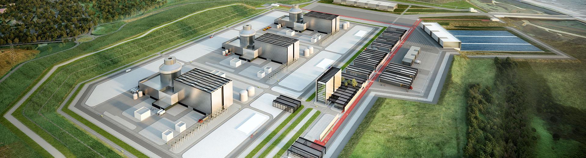 jaderná energie - Společnost Engie po bankrotu Westinghouse vystupuje z konsorcia NuGen - Nové bloky ve světě (Moorside Site MPS birds eye view) 3