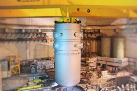 jaderná energie - Na JE Ostrovets byla instalována tlaková nádoba reaktoru - Ve světě (Ostravets 1 vessel installation 460 Belarus AEC) 1