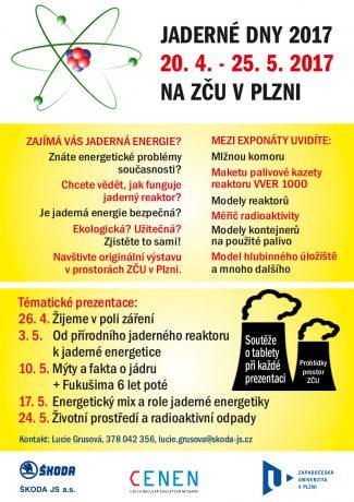 jaderná energie - V Plzni začínají Jaderné dny 2017 - V Česku (letak a5 konecna verze) 2