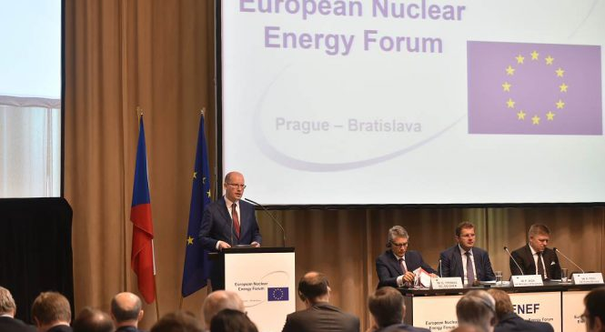 Projev předsedy vlády Bohuslava Sobotky na 12. ročníku Evropského jaderného fóra
