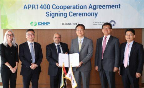 jaderná energie - Korea a Spojené arabské emiráty budou sdílet provozní zkušenosti s reaktory APR1400 - Ve světě (KHNP Nawah June 2017 460 KHNP) 1