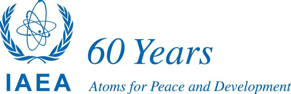 jaderná energie - Agentura MAAE dohlíží na jaderná zařízení po celém světě již 60 let - Ve světě (IAEA 60 Years LOGO blue) 1