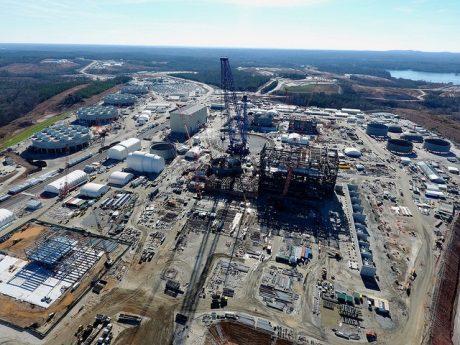 jaderná energie - Společnost SCE&G stáhne návrh na zrušení projektu JE Summer - Nové bloky ve světě (Summer 2 and 3 construction site Jan 2017 460 SCEG) 1