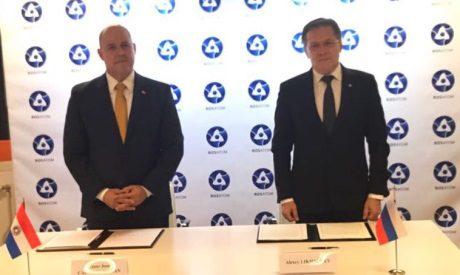 jaderná energie - Rusko aParaguay podepsaly Mezivládní dohodu ospolupráci voblasti mírového využívání jaderné energie - Ve světě (ARRN Rosatom September 2017 460 ARRN) 1