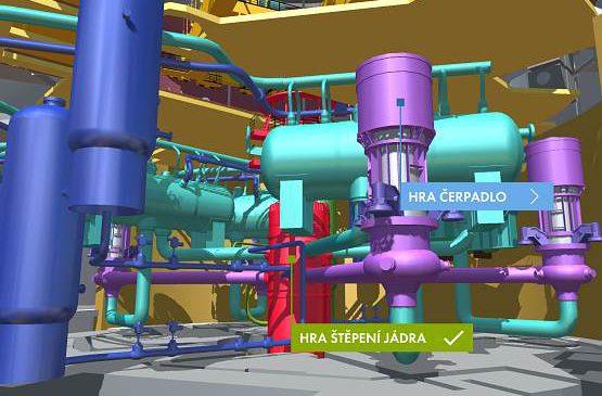 Kreaktoru bez přilby a dozimetru – nová aplikace Jaderné elektrárny 3D umožňuje do detailů prohlédnout si to nejzajímavější z jaderek
