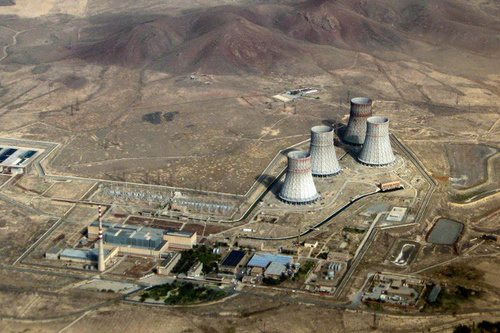 jaderná energie - HN: Česká exportní banka jde do Arménie. Poskytne záruky na modernizaci jaderné elektrárny, kterou dělá Škoda JS - V Česku (view Metsamor NPP aerial view 1) 1