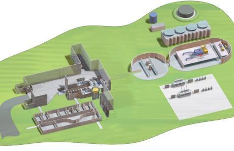 jaderná energie - Reaktor na bázi roztavených solí prošel milníkem v předlicenčním procesu - Ve světě (400f 2016 facility layout test 1 460) 2
