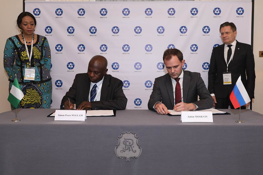 Rosatom podepsal dohodu sNigérií o rozvoji jaderných projektů
