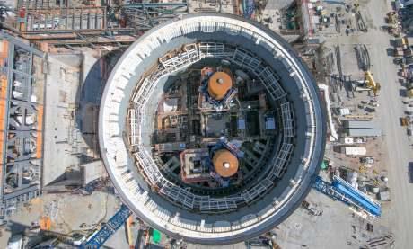 jaderná energie - Komise Public Service Commission zahájila slyšení ohledně JE Vogtle - Nové bloky ve světě (Vogtle3 containment oct2017 460) 1