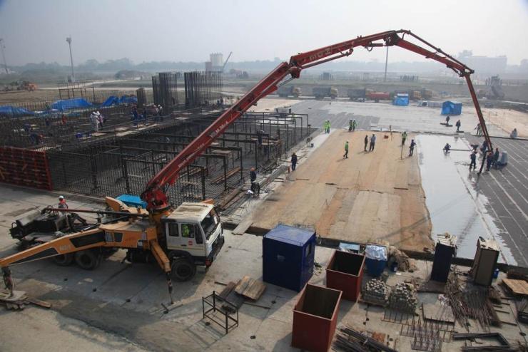 jaderná energie - VBangladéši odlili první beton vJE Rooppur - Nové bloky ve světě (Zahájení betonování základů reaktorové budovy jaderné elektrárny Rooppur 740) 1