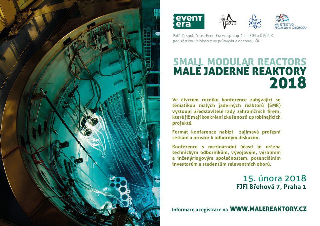 jaderná energie - Konference Malé jaderné reaktory 2018 se blíží - Inovativní reaktory (SMR18 A5 inzerce 1024) 1