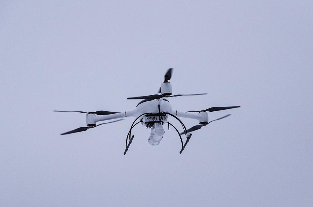 Nuvia předvedla systém pro přesné měření radiace pomocí dronu