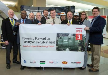 jaderná energie - Další modernizace JE Darlington dostala zelenou - Ve světě (Darlington 3 permisison ceremony OPG 460) 1