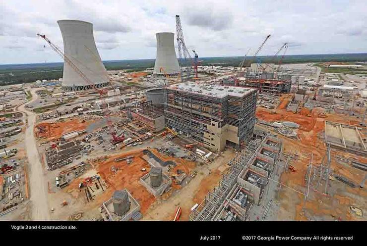 jaderná energie - Americký rozpočet zahrnuje podporu pro JE Vogtle a malé reaktory - Nové bloky ve světě (U3 East02) 1