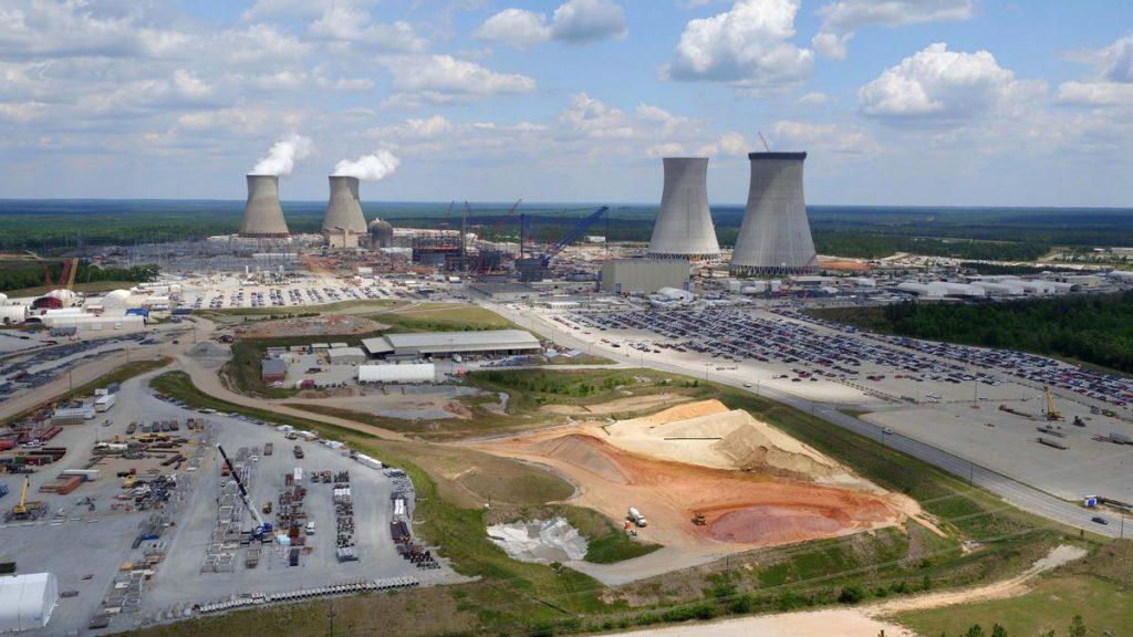 jaderná energie - Umístění kompenzátoru objemu na 3. blok JE Vogtle - Nové bloky ve světě (plant vogtle may 2016 1200xx4000 2250 0 0) 1