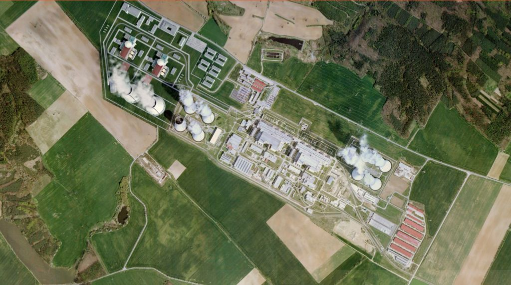 jaderná energie - iHned: Dělení ČEZ je hloupost a rozhodovat se podle dnešních cen elektřiny také, říká ministr průmyslu Hüner - Nové bloky v ČR (edu letecky  CEZ) 3