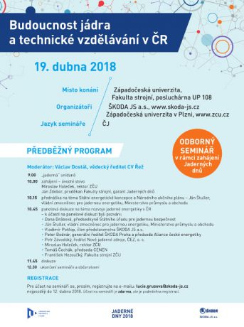 jaderná energie - Blíží se Jaderné dny 2018 v Plzni - V Česku (inzerat seminar jaderne dny 2018) 2