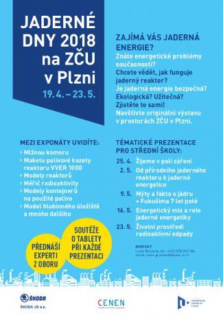 jaderná energie - Blíží se Jaderné dny 2018 v Plzni - V Česku (letak jaderne dny 2018) 1