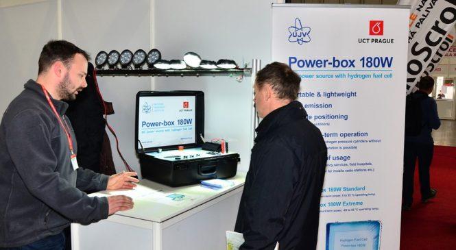 ÚJV Řež prezentuje svůj vodíkový Power-box na veletrhu Aquatherm 2018