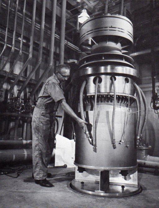 jaderná energie - Fort St. Vrain v obrázcích, část 4 - Věda a jádro (Fort St Vrain Helium Circulator) 3