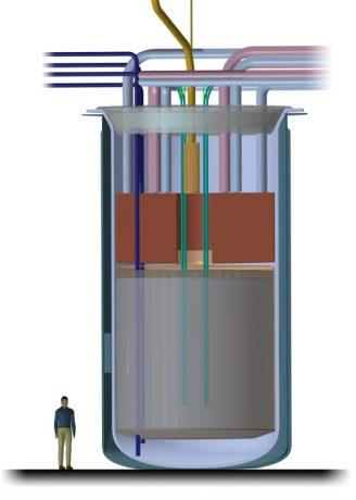 jaderná energie - Solný reaktor IMSR-400 - Inovativní reaktory (Reaktorová nádoba IMSR 400) 4