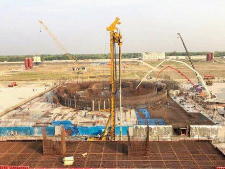 jaderná energie - Dosažení prvního milníku ve výstavbě prvního bloku JE Rooppur - Nové bloky ve světě (Rooppur 1 basemat complete 460 Rosatom) 1