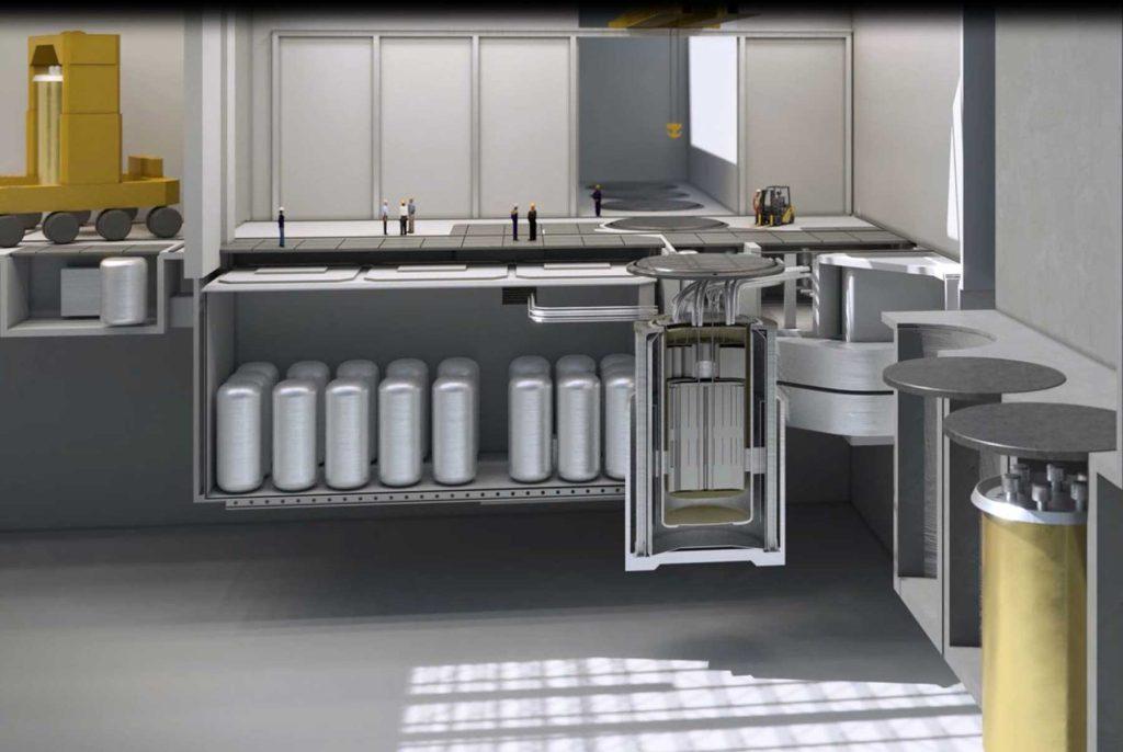 jaderná energie - Solný reaktor IMSR-400 - Inovativní reaktory (Umístění reaktorové nádoby a okolních systémů 1024) 1