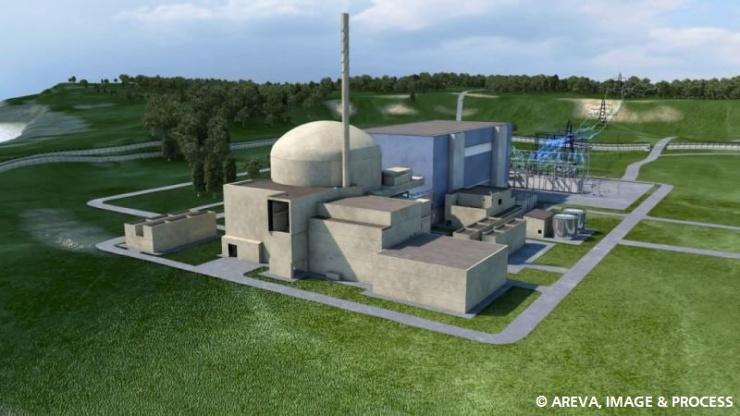 jaderná energie - EDF a GE postaví v Indii největší jadernou elektrárnu na světě - Nové bloky ve světě (Computer generated image of the EPR reactor 1 740) 1