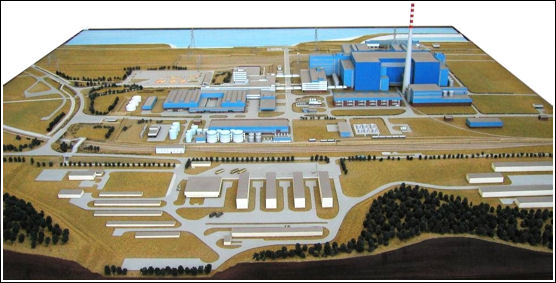 jaderná energie - Polsko čeká jen na politické rozhodnutí o výstavbě jaderných elektráren - Nové bloky ve světě (Zarnowiec makieta) 2