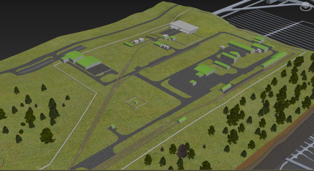 jaderná energie - Hüner: Obce z lokalit pro úložiště nejvíc řeší kritéria výběru - Back-end (povrchovy areal hlubinneho uloziste 1024) 1