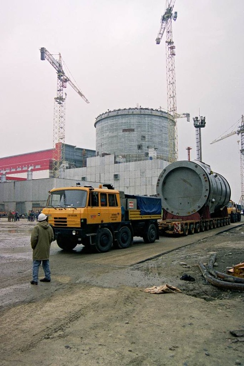 jaderná energie - Kraj dostane 2,8 mil. Kč na přípravy silnic pro dostavbu Dukovan - Nové bloky v ČR (reaktor nadoba doprava kontejnment kopie 740) 1