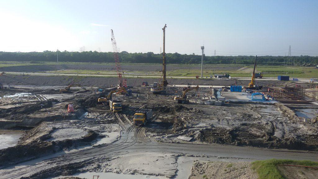 jaderná energie - 2. blok JE Rooppur v Bangladéši má stavební povolení - Nové bloky ve světě (prava podloží pro reaktorovou budovu v JE Rooppur 1024) 1