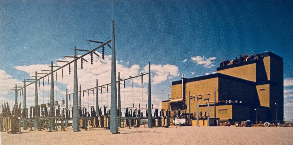 jaderná energie - Fort St. Vrain v obrázcích 6 - Ve světě (Fort St Vrain and switchyard) 3