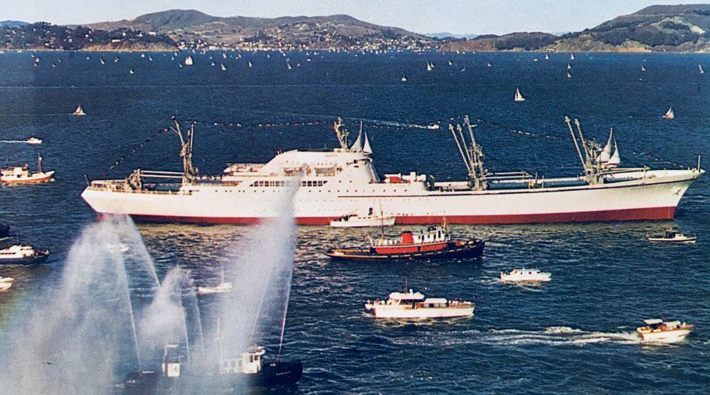 jaderná energie - Příběh lodi s jaderným pohonem, NS Savannah - Fotografie (NS Savannah with Escorts) 6