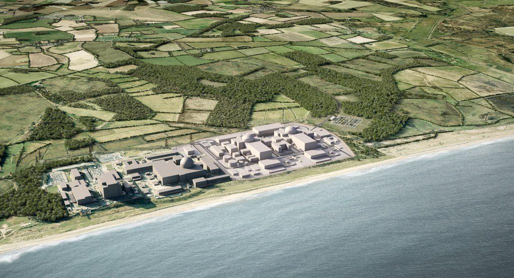 jaderná energie - EDF zahajuje rozhovory stuctem soukromých investorů ohledně výstavby jaderné elektrárny Sizewell C - Nové bloky ve světě (Sizewell aerial CGI 1024) 1