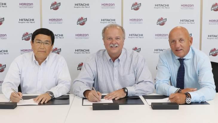 jaderná energie - Firma Bechtel povede projekt JE Wylfa Newydd - Nové bloky ve světě (Horizon Bechtel Hitachi contract signing August 2018 Horizon) 1