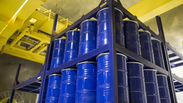 jaderná energie - Finské firmy cílí na čínský trh s radioaktivním odpadem - Back-end (Radioactive waste drums at Loviisa Fortum) 1