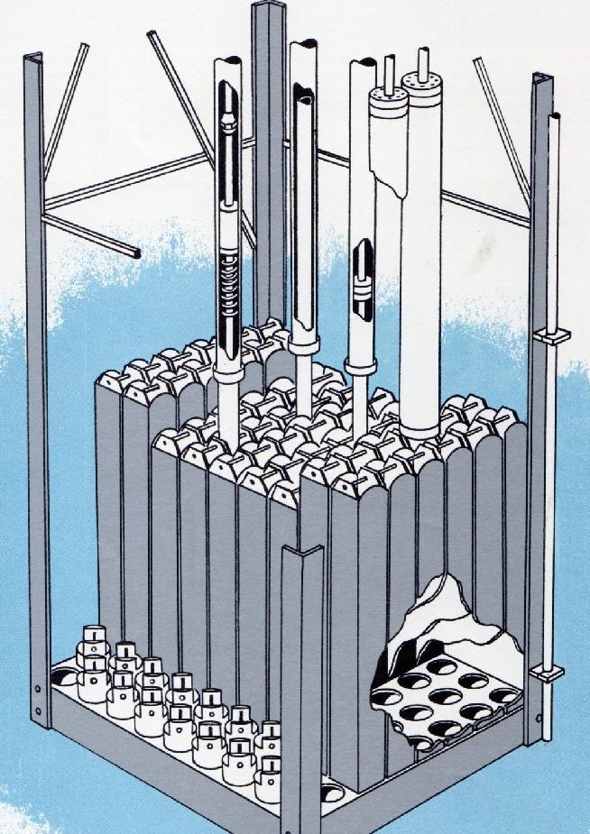 jaderná energie - Bazénové reaktory – budovy a jejich vybavení - Fotografie (Ford Nuclear Reactor Core Detail) 7