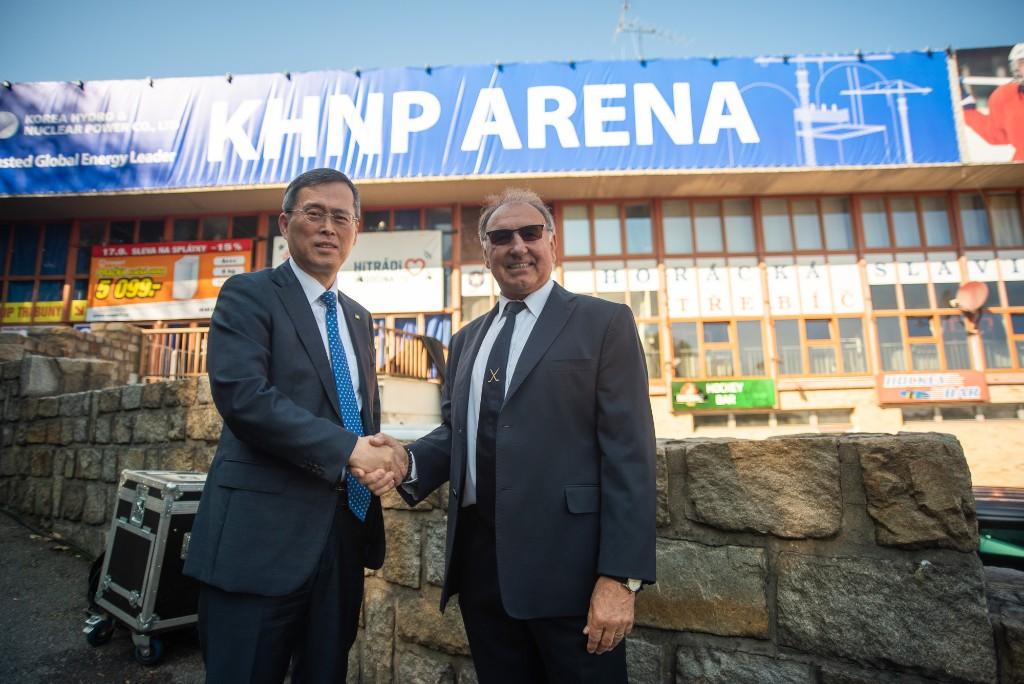 jaderná energie - KHNP se stala generálním partnerem hokejového klubu SK Horácká Slavia Třebíč - V Česku (image) 3