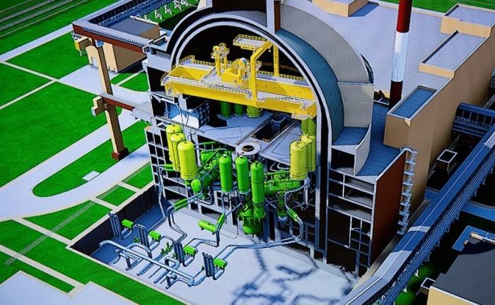 jaderná energie - Rosatom zahájil projekt výstavby JE vUzbekistánu - Nové bloky ve světě (Vizualizace řezu blokem typu VVER 1200) 2